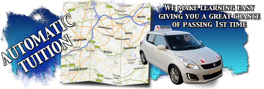 get driving lessons Heckmondwike with Rev and Go Automatic Driving School